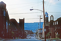 Pittsburgh: Homestead, City of Churches. Population 4000. In 2 blocks from this spot (Ann St.  & 10th) there are 14 places of worship. Photo 2001.