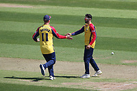 Aron Nijjar of Essex celebrates taking the wicket of D'Arcy Short during Hampshire Hawks vs Essex Eagles, Vitality Blast T20 Cricket at The Ageas Bowl on 16th July 2021