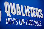 Logo: QUALIFIERS MEN'S EHF EURO 2022 / EHF EURO-Qualifikation / EM-Qualifikation / Handball-Laenderspiel: Deutschland - Estland am 02.05.2021 in Stuttgart (PORSCHE Arena), Baden-Wuerttemberg, Deutschland.<br /> <br /> Foto © PIX-Sportfotos *** Foto ist honorarpflichtig! *** Auf Anfrage in hoeherer Qualitaet/Aufloesung. Belegexemplar erbeten. Veroeffentlichung ausschliesslich fuer journalistisch-publizistische Zwecke. For editorial use only.