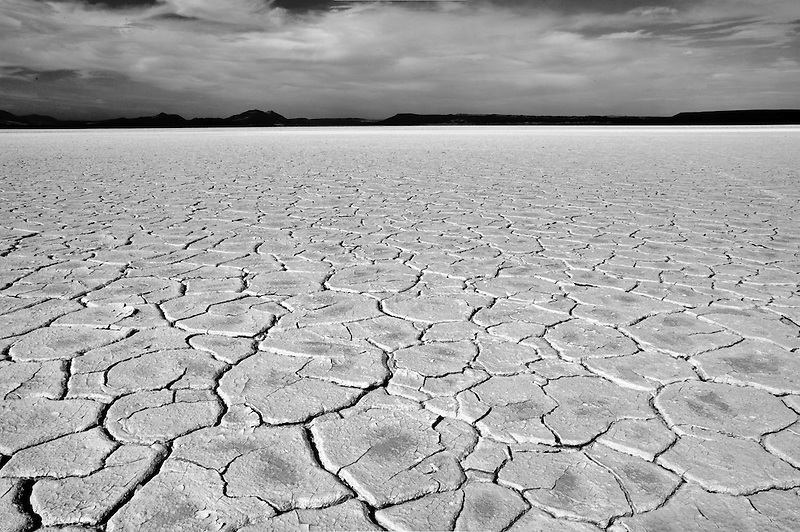 Alvord Desert with mud patterns. Oregon
