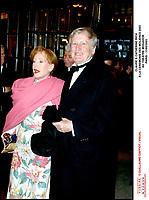 Claude Rich & sa femme Catherine a la ceremonie des molieres 2003 au theatre mogador . #