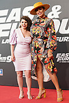 Carla Vigo Ortiz (l), niece of Queen Letizia  and Spanihs singer Amor Romeira during the photocall for the 'Fast & Furious 9' Madrid Premiere. June 17, 2021. (ALTERPHOTOS/Acero)
