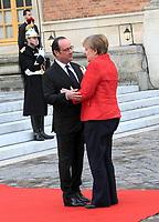 Francois Hollande , Angela Merkel - SOMMET INFORMEL DES CHEFS DE GOUVERNEMENT ALLEMAND, ESPAGNOL, ITALIEN ET FRANCAIS