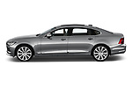 Car Driver side profile view of a 2018 Volvo S90 Inscription 4 Door Sedan Side View