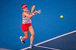 Miyu Kato of Japan vs Daria Gavrilova of Russia during the WTA Prudential Hong Kong Tennis Open at the Victoria Pack Stadium on 13 October 2015 in Hong Kong, China. Photo by Moses Ng / Power Sport Images