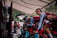 Mads Würtz Schmidt (DEN/Katusha-Alpecin) warming up<br /> <br /> UCI MEN'S TEAM TIME TRIAL<br /> Ötztal to Innsbruck: 62.8 km<br /> <br /> UCI 2018 Road World Championships<br /> Innsbruck - Tirol / Austria