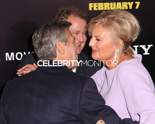 """NEW YORK, NY - FEBRUARY 04: George Clooney, Hugh Bonneville, Lulu Williams at the New York Premiere Of Columbia Pictures' """"The Monuments Men"""" held at Ziegfeld Theater on February 4, 2014 in New York City, New York. (Photo by Jeffery Duran/Celebrity Monitor)"""