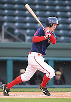 April 7, 2009: Pete Hissey of the Greenville Drive hits in a game against Wofford College on Tuesday, April 7, 2009, at Fluor Field in Greenville. Photo by:  Tom Priddy/Four Seam Images