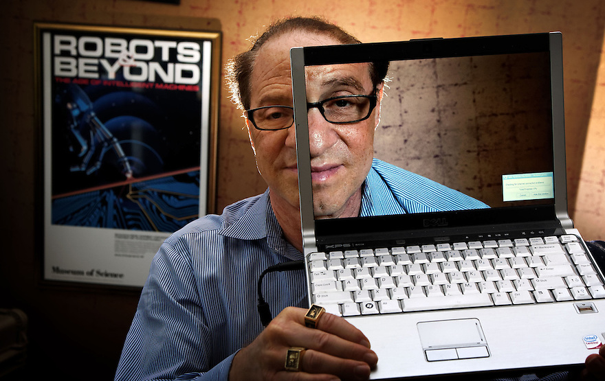 Inventor and futurist Ray Kurzweil pictured in his Boston office. for Insight att: Duska Sulicich...to go with Nick Miller story....photo by Trevor Collens   25 Oct 2011