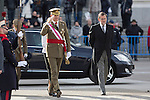 King Felipe VI of Spain and Spain's acting Prime Minister Mariano Rajoy during the Military Eastern (Pascua Militar) at the Royal Palace in Madrid, Spain. January 06, 2015. (ALTERPHOTOS/Pool)