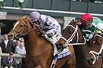LEXINGTON, KY - APRIL 09:  #1 Weep No More wins the Central Bank Ashland Stakes at Keeneland on April 9, 2016 in Lexington, Kentucky. (Photo by Candice Chavez/Eclipse Sportswire/Getty Images)