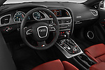 High angle dashboard view of a  2007 - 2011 Audi S5 Coupe.