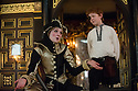 London, UK. 10.04.2014. Shakespeare's Globe presents THE MALCONTENT, in the Sam Wanamaker Playhouse, with the Globe Young Players, directed by Caitlin McLeod. Picture shows: Freya Parks (Passarello) and Joseph Marshall (Malevole).Photograph © Jane Hobson.