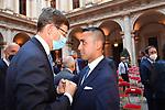 VITTORIO COLAO E LUIGI DI MAIO<br /> RICEVIMENTO 14 LUGLIO 2021 AMBASCIATA DI FRANCIA<br /> PALAZZO FARNESE ROMA