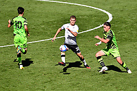 Cameron Evans of Swansea City in action during the pre season friendly match between Swansea City and Forest Green Rovers at the Liberty Stadium in Swansea, Wales, UK. Tuesday 01 September 2020