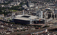 Aerial view of Millennium Stadium in Cardiff