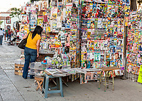 Oaxaca, Mexico.  Newsstand in the Zócalo (Town Plaza).