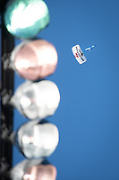 SAN JOSE, CA - JUNE 26: Skydivers during a game between Los Angeles Galaxy and San Jose Earthquakes at PayPal Park on June 26, 2021 in San Jose, California.