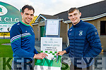 Jack Barry and Diarmuid O'Connor relaunching Na Gaeil GAA club lotto on Friday which was inactive due to the Covid pandemic.