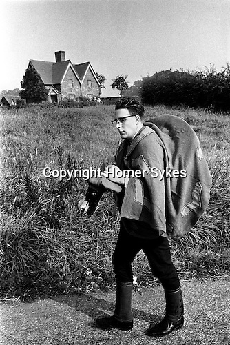 Abbots Bromley Horn Dance, Abbots Bromley, Staffordshire, England 1971. Hobby Horse.