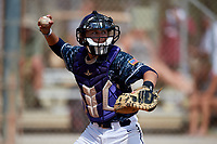 Brooks Rikeman during the WWBA World Championship at the Roger Dean Complex on October 18, 2018 in Jupiter, Florida.  Brooks Rikeman is a catcher from Winter Park, Florida who attends Orangewood Christian School and is committed to Jacksonville.  (Mike Janes/Four Seam Images)