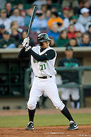 Frank Pfister #21 of the Dayton Dragons at bat versus the Great Lakes Loons at Fifth Third Field April 22, 2009 in Dayton, Ohio. (Photo by Brian Westerholt / Four Seam Images)