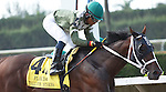 Two T's At Two B with Eduardo Nunez up, remains undefeated in 3 starts as he wins the Dr. Fager Division of the Florida Stallion Stakes of 2012 at Calder Race Course, Miami Gardens Florida. 07-28-2012. Arron Haggart/Eclipse Sportswire.