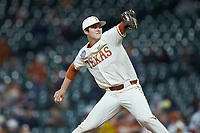 Texas Longhorns starting pitcher Ty Madden (32) in action against the Arkansas Razorbacks in game six of the 2020 Shriners Hospitals for Children College Classic at Minute Maid Park on February 29, 2020 in Houston, Texas. The Longhorns defeated the Razorbacks 8-7. (Brian Westerholt/Four Seam Images)
