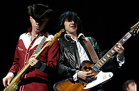 Le groupe montrealais Les Cowboys Fringants en premiere partie des Rolling stones a Montreal,2003<br /> <br /> <br /> PHOTO : Agence Quebec Presse