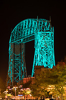 Duluth's Aerial Lift Bridge was specially lit in teal to raise awareness about, and remember those whose lives have been touched by, ovarian cancer.