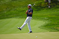 5th June 2021; Dublin, Ohio, USA; Hideki Matsuyama (JPN) reacts to barely missing his eagle putt on 14 during the Memorial Tournament Rd3 at Muirfield Village Golf Club on June 5, 2021 in Dublin, Ohio.