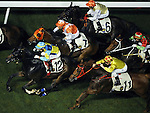 HONG KONG, CHINA - SEPTEMBER 16:  Runners in action in the Race 5 during the first night of horses races of the 2009/10 seasson at the Happy Valley racecourse in Hong Kong. The coming 2009/10 racing season marks the 125th Anniversary of The Hong Kong Jockey Club, which since its establishment in 1884. Photo by Victor Fraile / The Power of Sport Images