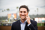 February 07 2015: Bloodstock agent, Alex Solis smiles after Shared Belief wins the San Antonio Stakes at Santa Anita Park in Arcadia CA. Alex Evers/ESW/CSM`
