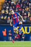 Lucas Digne of FC Barcelona in action during their La Liga match between Villarreal and FC Barcelona at the Estadio de la Cerámica on 08 January 2017 in Villarreal, Spain. Photo by Maria Jose Segovia Carmona / Power Sport Images
