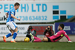 St Johnstone v Partick Thistle....17.10.15  SPFL     McDiarmid Park, Perth<br /> Steven MacLean rounds Tomas Cerny buts misses the chance<br /> Picture by Graeme Hart.<br /> Copyright Perthshire Picture Agency<br /> Tel: 01738 623350  Mobile: 07990 594431