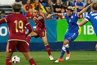 Spain's Veronica Boquete and Finland's Annika kukkonen during the match of  European Women's Championship 2017 at Leganes, between Spain and Finland. September 20, 2016. (ALTERPHOTOS/Rodrigo Jimenez) NORTEPHOTO