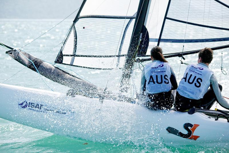 ItalySirena SL16OpenCrewITAMG142MariaGiubilei<br /> ItalySirena SL16OpenHelmITAGU1GianluigiUgolini<br /> Day4, 2015 Youth Sailing World Championships,<br /> Langkawi, Malaysia