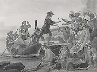 Landing Of Roger Williams, 1636, Alonzo Chappell, (1828-1887 American)