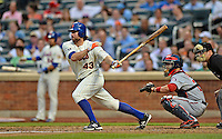 24 July 2012: New York Mets starting pitcher R.A. Dickey at bat against the Washington Nationals at Citi Field in Flushing, NY. The Nationals defeated the Mets 5-2 to take the second game of their 3-game series. Mandatory Credit: Ed Wolfstein Photo