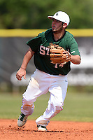 Farmingdale State Rams Domenic Palumbo during a game against the U-Mass Boston Beacons at North Charlotte Regional Park on March 19, 2015 in Port Charlotte, Florida.  U-Mass Boston defeated Farmingdale 9-5.  (Mike Janes/Four Seam Images)