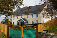 COPY BY TOM BEDFORD<br /> Pictured: Bryn Tawel house where Mavis Bran used to live next to the Chipoteria fish and chips shop in Hermon, Wales, UK. Wednesday 31 October 2018<br /> Re: A woman who died after suffering severe burns at the Chipoteria chip shop in Carmarthenshire, west Wales has been named as Mavis Bran, 69.<br /> She died at Morriston Hospital in Swansea, six days after the incident in Hermon, near Carmarthen on the 23rd October.<br /> A 70 year old man has been arrested by Dyfed-Powys Police and bailed while investigations are continuing.