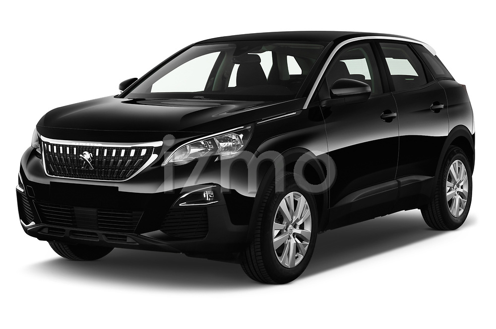 2018 Peugeot 3008 Active 5 Door SUV angular front stock photos of front three quarter view