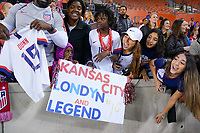 HOUSTON, TX - FEBRUARY 03: Fans of the United States during a game between Costa Rica and USWNT at BBVA Stadium on February 03, 2020 in Houston, Texas.