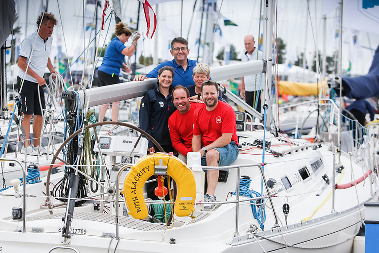 Seventh Rolex Fastnet Race for Chris and Vanessa Choules' With Alacrity - the leading Sigma 38 for the 2021 RORC season Photo: Paul Wyeth