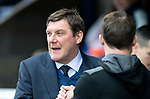 St Johnstone v Partick Thistle…28.04.18…  McDiarmid Park    SPFL<br />Tommy Wright greets Thistle boss Alan Archibald<br />Picture by Graeme Hart. <br />Copyright Perthshire Picture Agency<br />Tel: 01738 623350  Mobile: 07990 594431