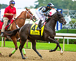SEPT 05, 2021: BENBANG post parade in the Gr.1 Spinaway Stakes, for 2-year old fillies, going 7 furlongs, at Saratoga Racecourse, Saratoga Springs, New York. Sue Kawczynski/Eclipse Sportswire/CSM