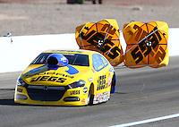 Mar 30, 2014; Las Vegas, NV, USA; NHRA pro stock driver Jeg Coughlin during the Summitracing.com Nationals at The Strip at Las Vegas Motor Speedway. Mandatory Credit: Mark J. Rebilas-