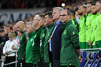 Martin O'Neill manager of Republic of Ireland during the UEFA Nations League B match between Wales and Ireland at Cardiff City Stadium in Cardiff, Wales, UK.September 6, 2018