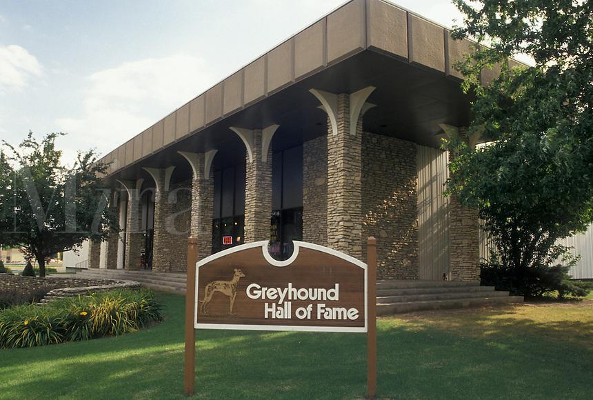 Greyhound, dogs, Abilene, KS, Kansas, Greyhound Hall of Fame in Abilene.