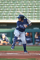 AZL Padres 1 Brandon Valenzuela (7) at bat during an Arizona League game against the AZL Cubs 1 on July 5, 2019 at Sloan Park in Mesa, Arizona. The AZL Cubs 1 defeated the AZL Padres 1 9-3. (Zachary Lucy/Four Seam Images)